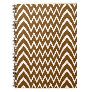 Brown Chevron Illusion Spiral Notebook