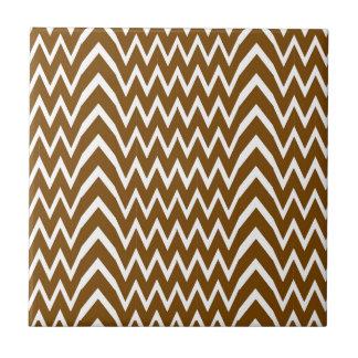 Brown Chevron Illusion Tile