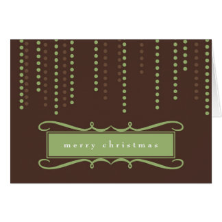Brown chic icicles Christmas holiday business logo Note Card