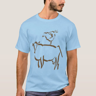 Brown Chicken Brown Cow - Blue T-Shirt