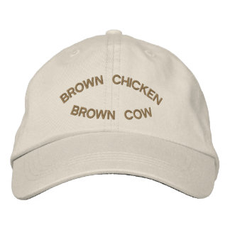Brown Chicken Brown Cow Embroidered Hat