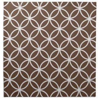 Brown Circular Pattern Napkin