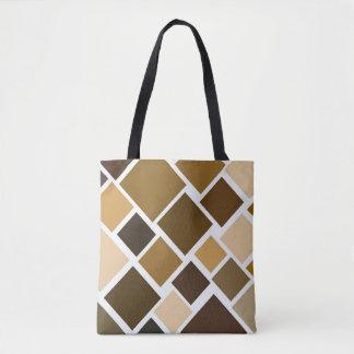 Brown City Block Bag