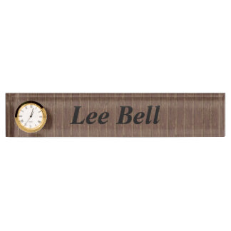 Brown Clapboard Desk Name Plates