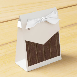 Brown Clapboard Party Favor Boxes