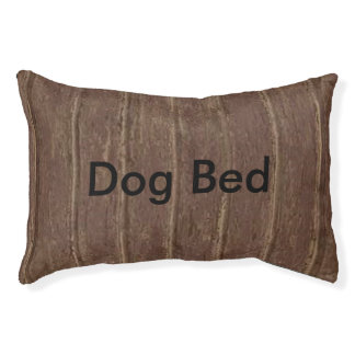 Brown Clapboard Pet Bed