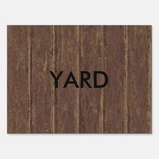 Brown Clapboard Sign