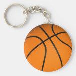 Brown Classic BasketBall Basic Round Button Keychain