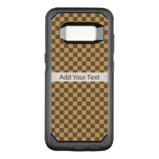 Brown Classic Checkerboard by Shirley Taylor OtterBox Commuter Samsung Galaxy S8 Case