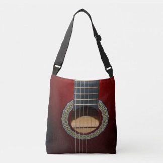 Brown Classic Guitar, Full Print Cross Body Bag