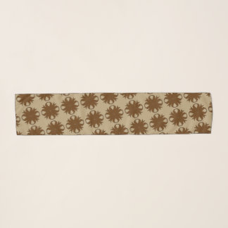 Brown Clover Ribbon by Kenneth Yoncich Scarf