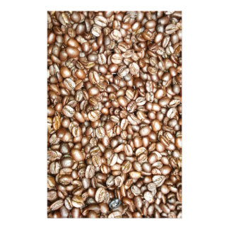 Brown coffee beans design stationery paper