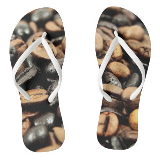 Brown Coffee Beans Photography Flip Flops