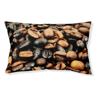 Brown Coffee Beans Photography Small Dog Bed