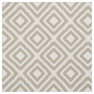 Brown color modern Ikat diamond pattern Fabric
