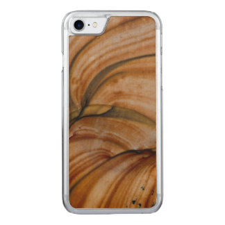 Brown colored Deschutes Jasper Carved iPhone 8/7 Case