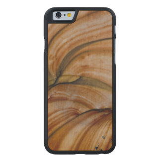 Brown colored Deschutes Jasper Carved Maple iPhone 6 Case