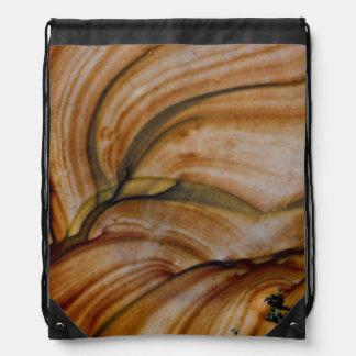 Brown colored Deschutes Jasper Drawstring Bag