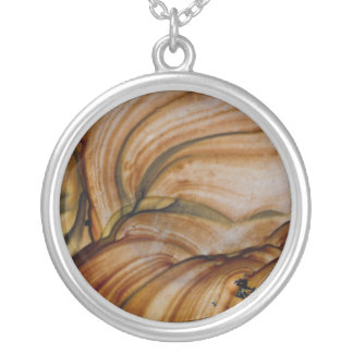 Brown colored Deschutes Jasper Silver Plated Necklace