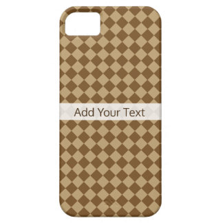 Brown Combination Diamond Pattern by STaylor Case For The iPhone 5