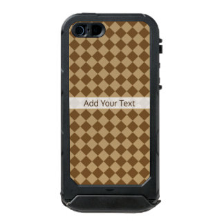 Brown Combination Diamond Pattern by STaylor Incipio ATLAS ID™ iPhone 5 Case