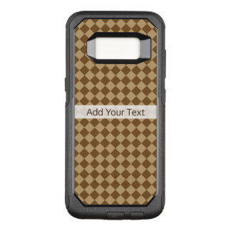 Brown Combination Diamond Pattern by STaylor OtterBox Commuter Samsung Galaxy S8 Case