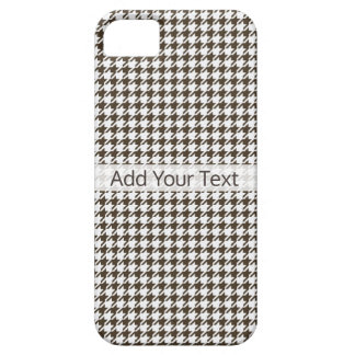 Brown Combination Houndstooth by Shirley Taylor iPhone 5 Cover