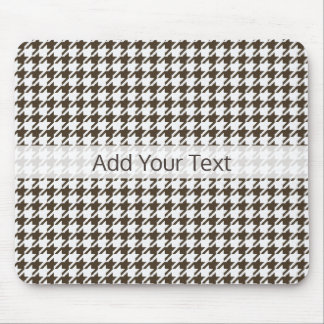 Brown Combination Houndstooth by Shirley Taylor Mouse Pad