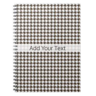 Brown Combination Houndstooth by Shirley Taylor Notebooks