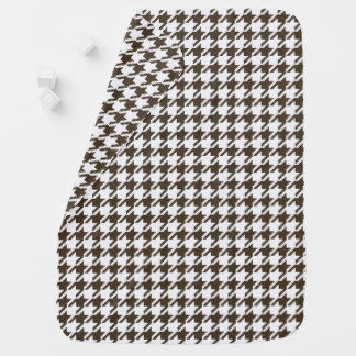 Brown Combination Houndstooth by Shirley Taylor Swaddle Blanket
