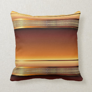 Brown Copper Metal Mesh Design Throw Pillow