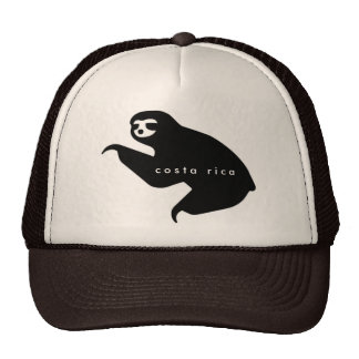 Brown Costa Rica Sloth Souvenir Hat