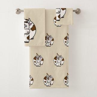 Brown Cow Bath Towel Set