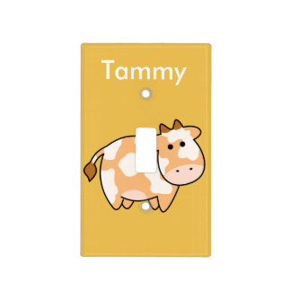 Brown Cow Custom Light Switch Cover
