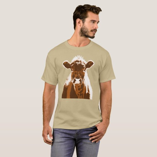 Brown Cow Farm Animal Custom Address Label T-Shirt