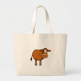 brown cow large tote bag