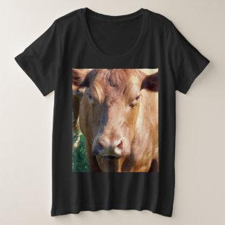 Brown_Cow,_ Plus Size T-Shirt