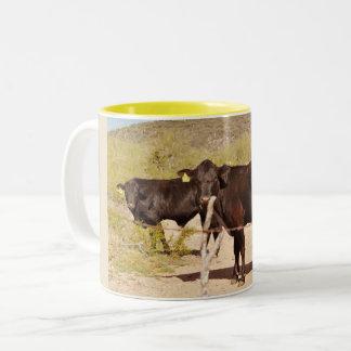Brown Cows In Chrome Coffee Mug