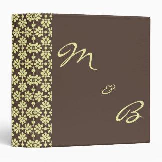 Brown&Cream Damask Wedding Album/Planner Binders