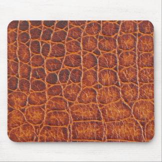 Brown Crocodile Skin Mousepads