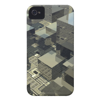 Brown Cubes On Motherboard iPhone 4 Case-Mate Cases
