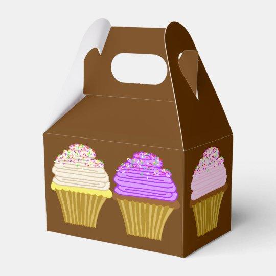 Brown Cupcake Art Box With Handle