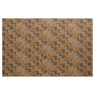 Brown Curvy Abstract Fabric