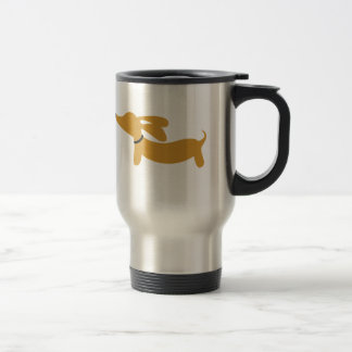 Brown Dachshund Wiener Dog Travel Mug
