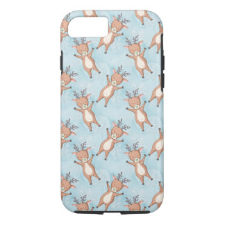 Brown Deer On A Blue Background iPhone 8/7 Case