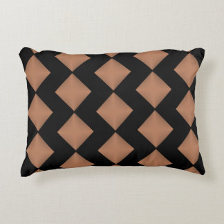 brown diamond Accent Pillow