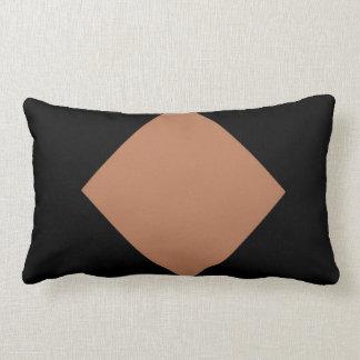 brown diamond Cotton Throw Pillow, Lumbar Pillow