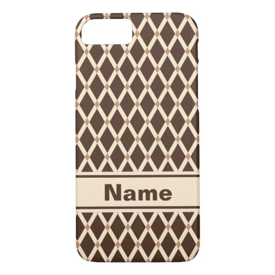 Brown Diamonds-Almond Frames Phone Case