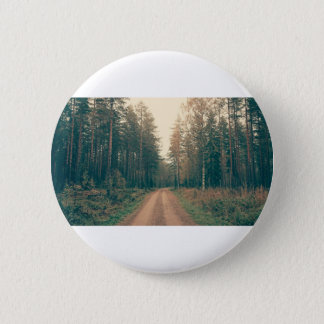 Brown Dirt Road Between Green Leaved Trees Daytime 2 Inch Round Button