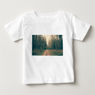 Brown Dirt Road Between Green Leaved Trees Daytime Baby T-Shirt